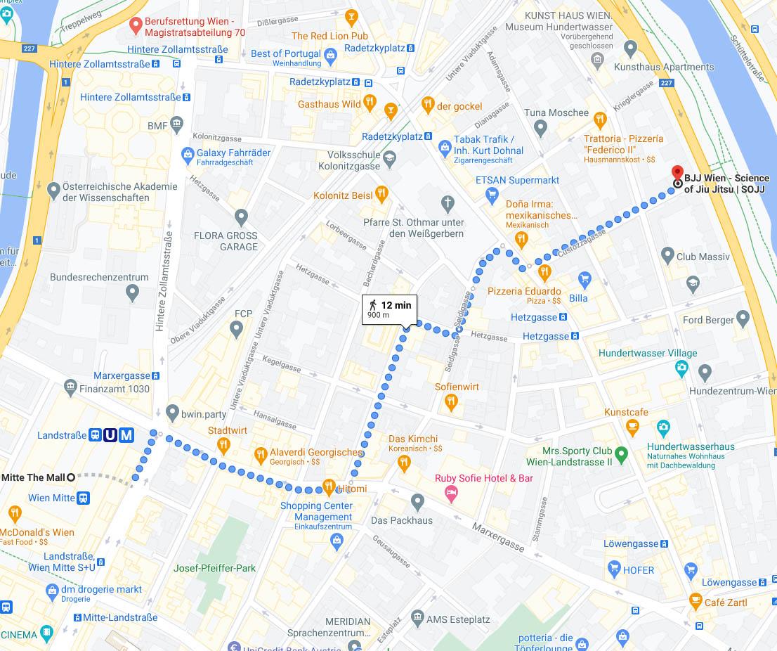 SOJJ, BJJ Wien, Google Maps View